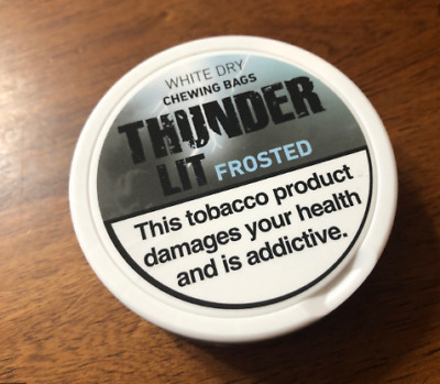 5 Dosen Thunder Ultra Frosted LIT Tabacco Snus Chew Dip Snuff