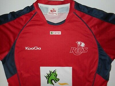 Queensland Reds Rugby Training Shirt Mens Med