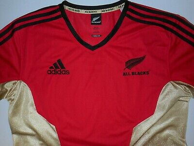 New Zealand All Blacks Rugby Training Shirt Mens Xl