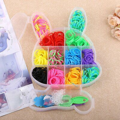 Rabbit Boxed Loom Band DIY Bracelet Weaving Machine Colorful Rubber Band AU