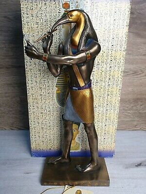 """Veronese Signed Egyptian Scribe Of The God Thoth Sculpted Cold Cast Statue 16"""""""
