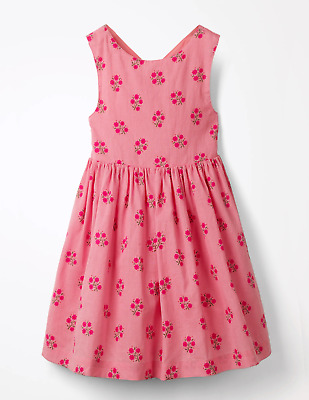 NEW RRP £60.00 Baby Boden  Cross-Back Printed Dress - Flamingo Pink        (U35)