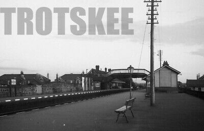 35mm Negative BR British Railways View of Prestwick Station 1957