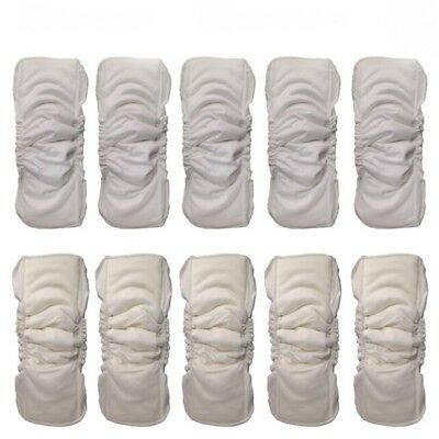 Reusable 5 Layers Baby Bamboo Diapers Inserts Infants Nappy Mat Pads Breathable