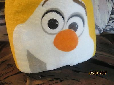 Disney FROZEN OLAF Snowman Hooded Bath Wrap BEACH POOL Towel SOFT Hood BOYS