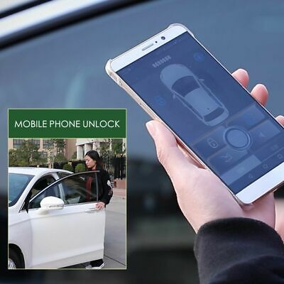PKE Smart Key Car Alarm System Remote Engine Start Stop Push Android IOS iPhone