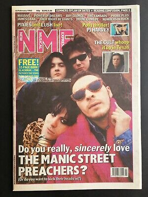 NME 15 February 1992 Manic Street Preachers, The Cult, PJ Harvey, Pixies, Lush