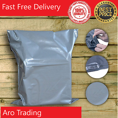 Strong Grey Mailing Bags Poly Postal All Sizes Cheapest On Ebay Made In UK