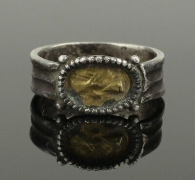 Beautiful Ancient Roman Gold & Silver Wedding Ring  - Circa 2Nd Century Ad