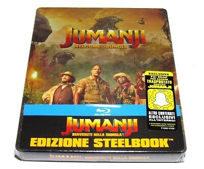 Jumanji Welcome To The Jungle Blu-Ray Steelbook Limited Edition Import New