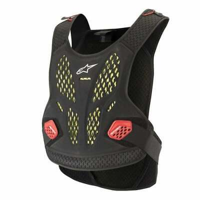 Alpinestars Adultes Séquence Motocross MX Poitrine Protection - Anthracite/Rouge