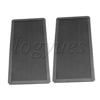 5PCS PC Computer Filter Mesh 12x24x0.2cm Black For electronic product speakers.