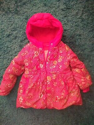 Girls Designer OILILY Winter Hooded Coat - age 24 month - Beautiful condition