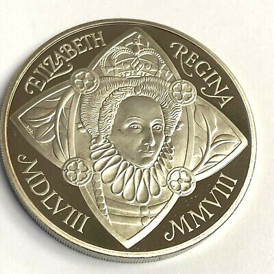 Great Britain 5 Pounds 1993 Proof~40th Anniversary Of Reign~66,000 Minted~Fr//Sh