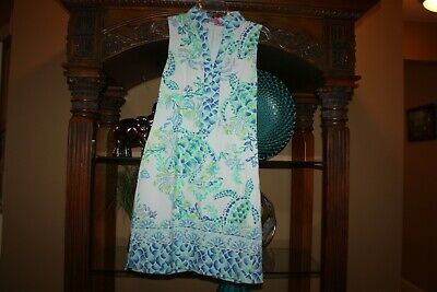 Lilly Pulitzer NWT Harper Shift Dress Resort White Drop In Eng $148