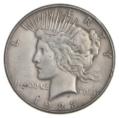 Early - 1923-S - Peace Silver Dollar - 90% US Coin *966