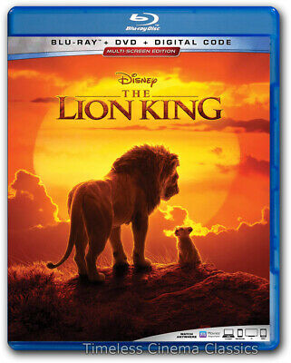 The Lion King Blu ray / DVD New 2019 Donald Glover Seth Rogen Chiwetel Ejofor