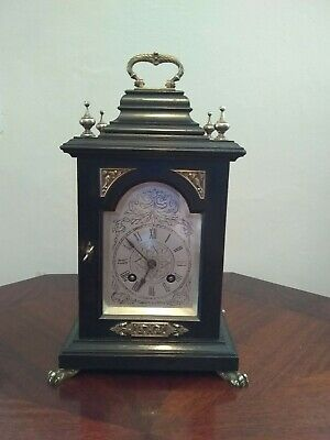 Rare and Beautiful 141 Year Old Lenzkirch Striking Wooden Carriage Clock!