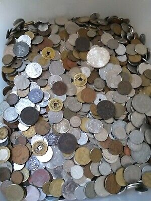 1KG Mixed Bulk World Coins. Not Checked for Variety. Great Mix