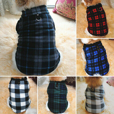 UK Fashion Fleece Puppy Dog Jumper Sweater Pet Clothes For Small Dogs Coat