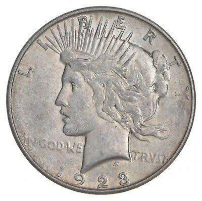 Early - 1923-D - Peace Silver Dollar - 90% US Coin *972