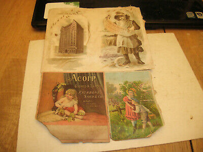 1893 Chicago Worlds Fair Masonic Temple Agric Building Advertising Scrapbook Pg