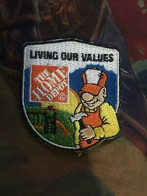 LMH Patch HOME DEPOT Living Our Values HOMER CHRISTMAS LIGHT Lights String Tree