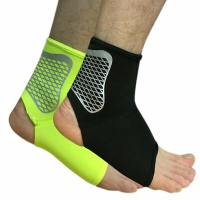 Unisex Elastic Mesh Breathable Basketball Sports Compression Ankle Brace Support