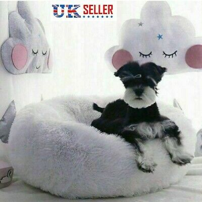 Comfy Calming Dog Cat Bed Round Warm Soft Plush Pet Bed Marshmallow Cat Bed GOUS