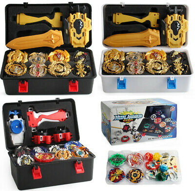 12X Beyblade Burst Starter Evolution Arena Launcher Grip Gyro Fight Bayblade Box