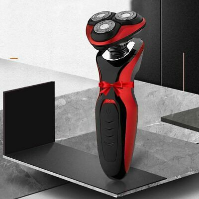 Rechargeable Cordless Electric Shaver Dry/ Wet Trimmer Rotary Razor+AU Plug