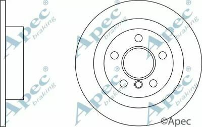Brake Disc Pair Coated Solid Rear APEC DSK3206 Replace 34216799367,18458