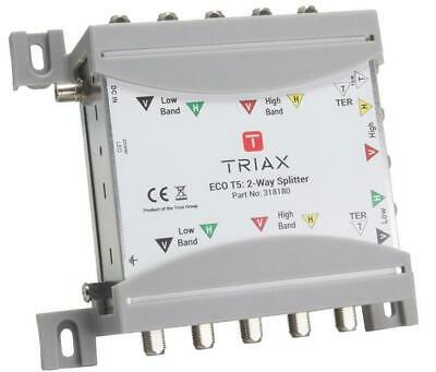 Eco T5 2-Way Satellite Splitter, 5 Inputs - TRIAX