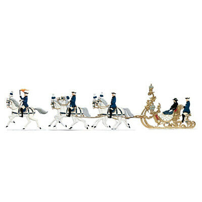 Sleigh ride Ludwig II., 3 parts, made of pewter - Wilhelm Schweizer -