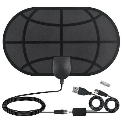 Digital TV 980 Mile Aerial 4K HDTV HD Freeview Indoor Antenna Signal Amplified