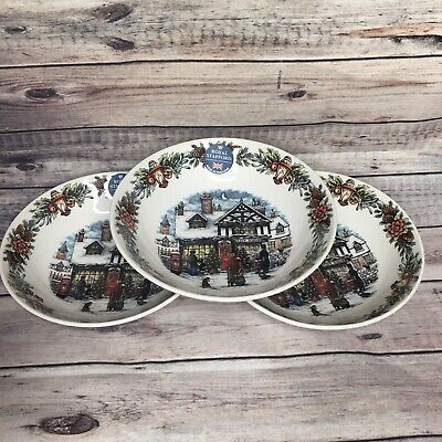 ROYAL STAFFORD 3 CHRISTMAS TOY STORE SALAD CEREAL DINNER Bowls