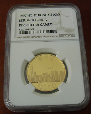 Hong Kong 1997 Gold NGC PF69UC Return to China