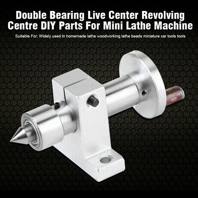 FJ- Mini Lathe Machine Double Bearing Live Center Revolving DIY Woodworking Tool