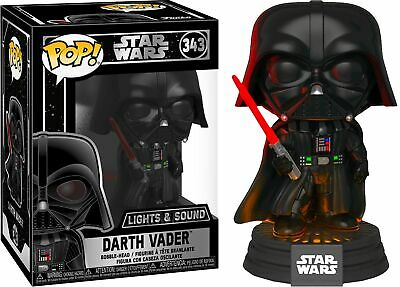 Star Wars Darth Vader Light & Sound Electronic Vinyl POP! Figure #343 FUNKO MIB