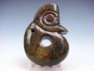 Old Nephrite Jade Stone Carved HongShan Sculpture LARGE Piggy Dragon #12031909