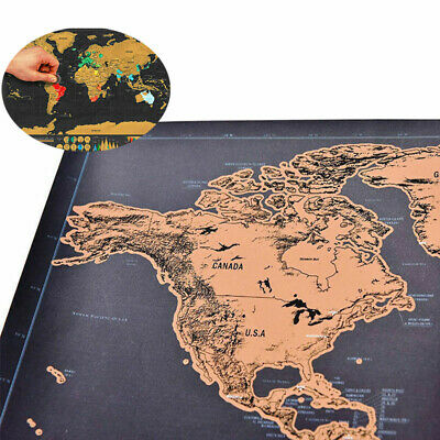 The World Gift Deluxe Scratch Off World Map Poster Journal Log Giant Map Of