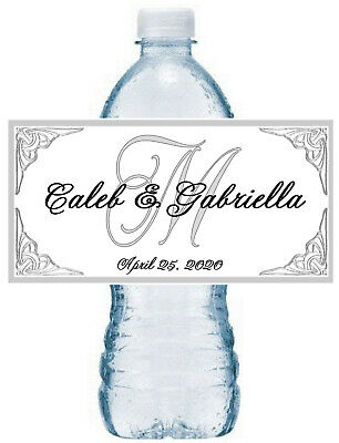 100 Silver Crown Wedding Anniversary Water Bottle Labels 50th 25th