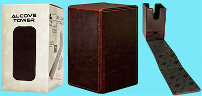 ULTRA PRO ALCOVE PREMIUM COWHIDE LEATHER TOWER FLIP DECK BOX Card Storage Case