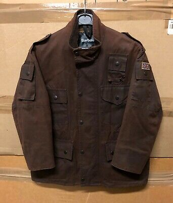 Genuine Rare Barbour Youth C1012 Cowen Commando Jacket Wax Brown Super Ex !!! Xl