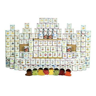 Emergency Food Storage Kit 1 year, 4 person Supply, Average 1,247 calories/day