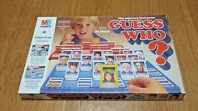 1993 Guess Who? Mystery Memory face game from MB Games
