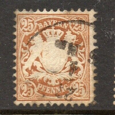 Bavaria Bayern 1876 Early Issue Fine Used 25pf. NW-15332