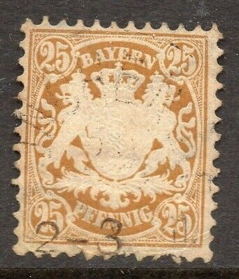Bavaria Bayern 1876 Early Issue Fine Used 25pf. NW-15325
