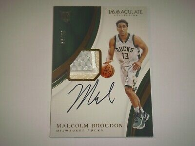2016-17 Immaculate #109 Rookie MALCOLM BROGDON PATCH AUTO RC 29/99 RPA