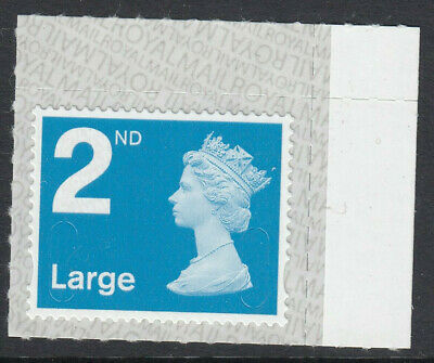 GB 2019 2nd LARGE S/A MACHIN M19L SBP2u BARCODE on BACK MNH From Counter Sheet